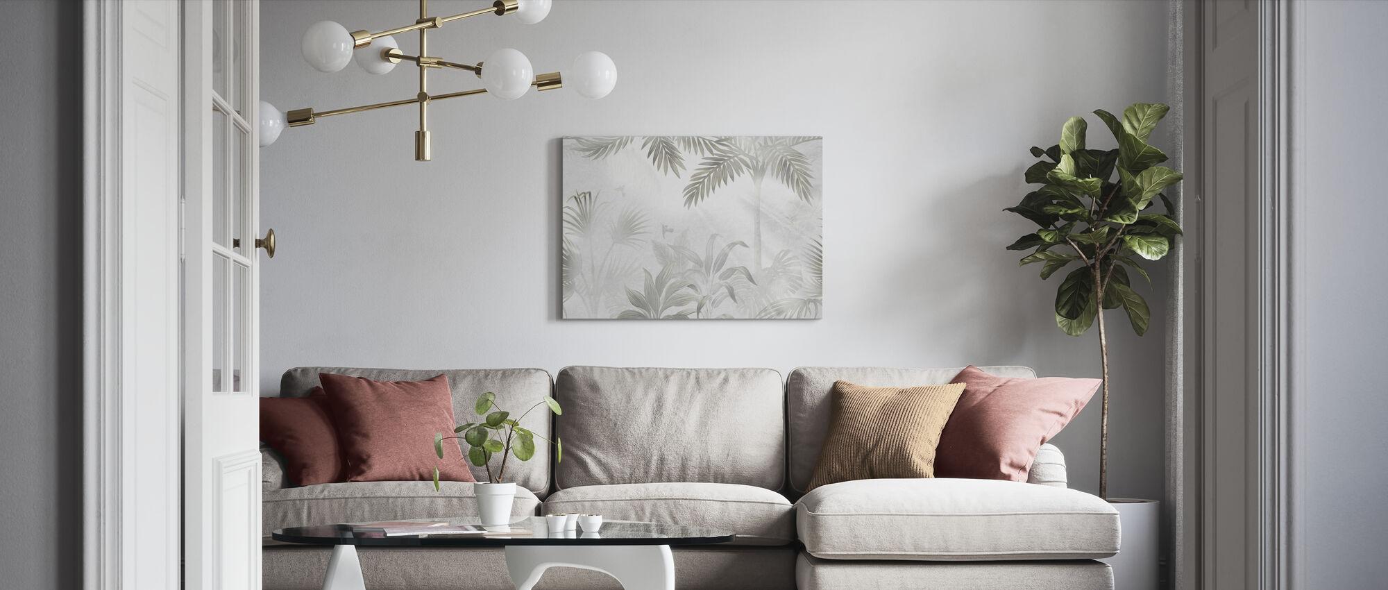 Foggy Jungle - Bleached - Canvas print - Living Room
