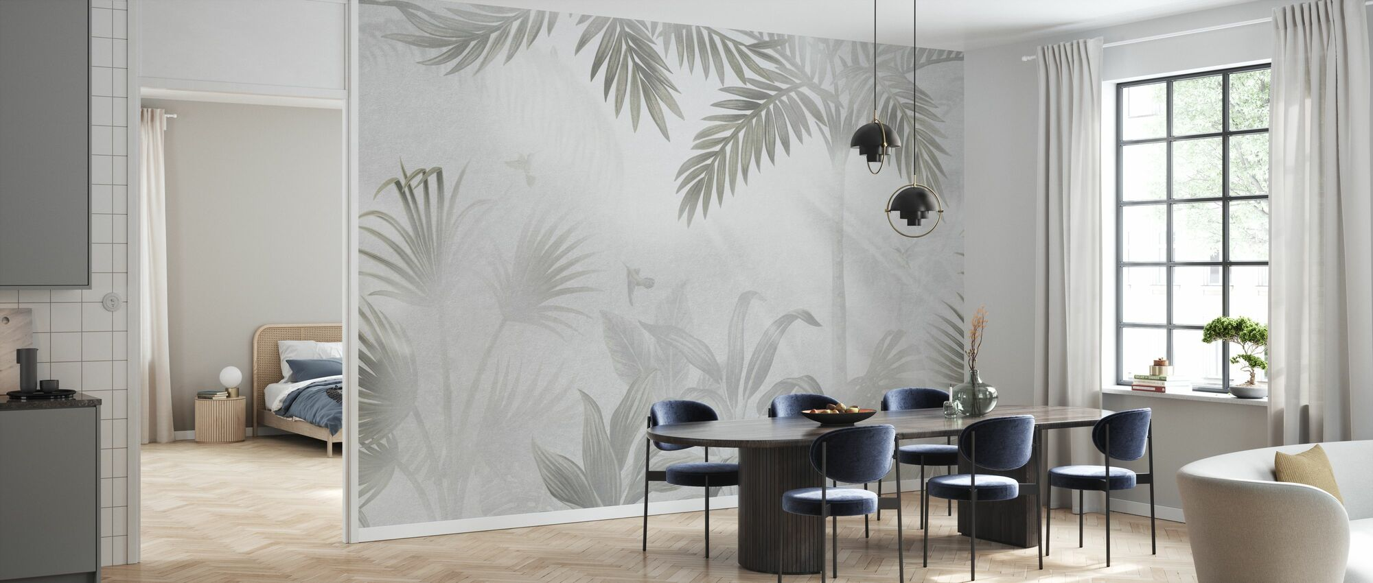 Foggy Jungle - Bleached - Wallpaper - Kitchen
