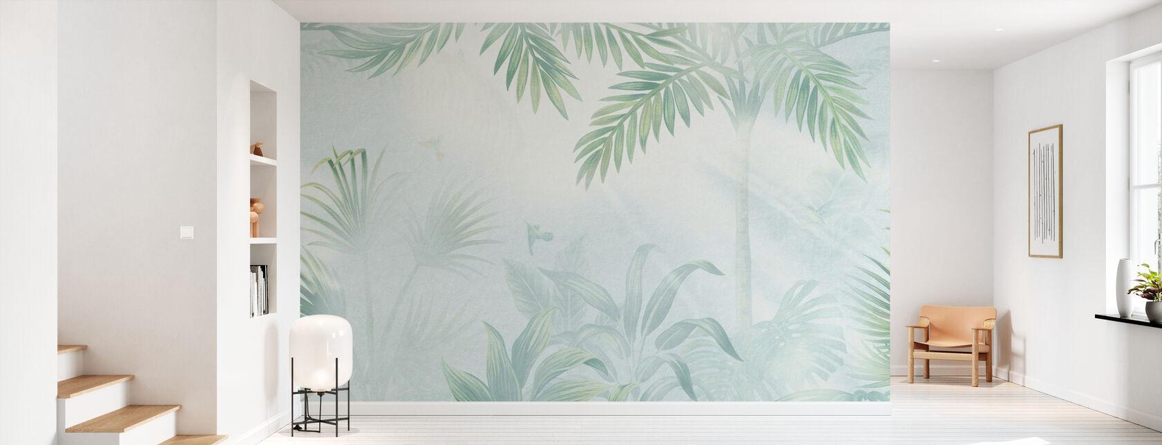 Foggy Jungle - Grønne - Tapet - Gang