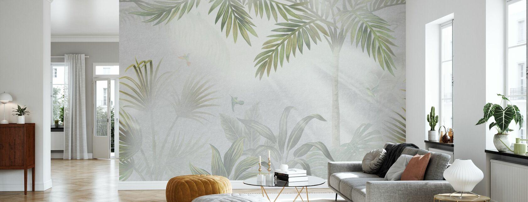 Selva de niebla - Oliva - Papel pintado - Salón
