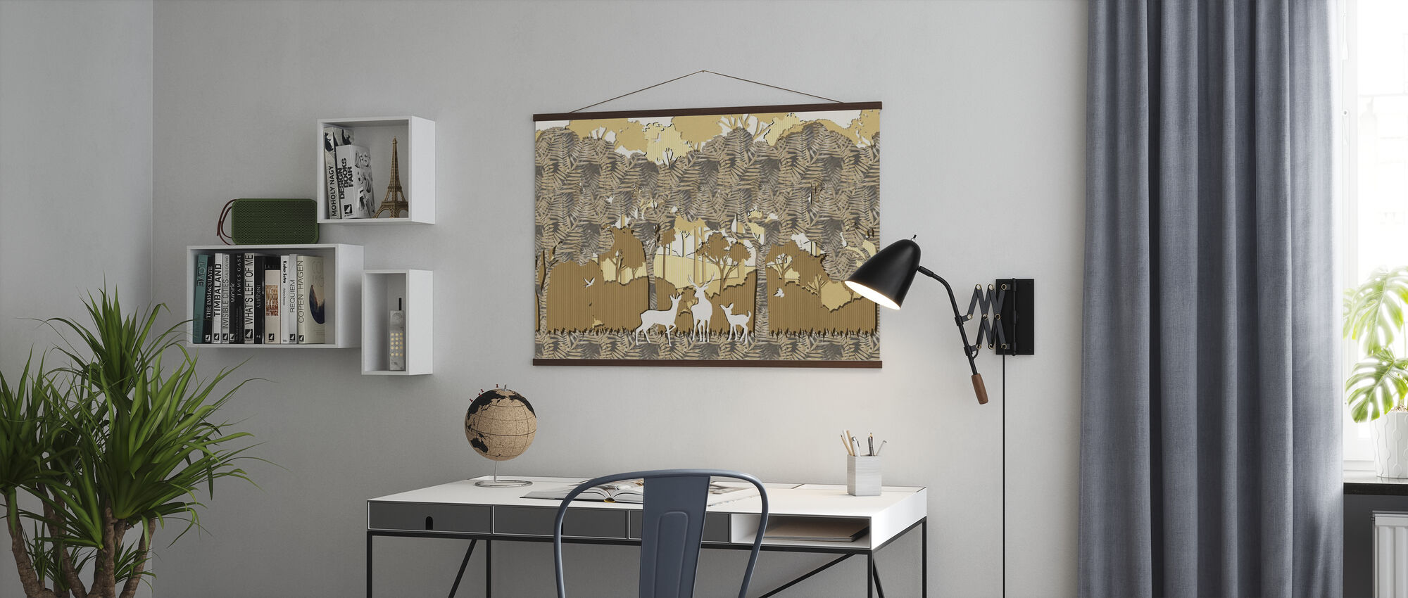 Papyromania Forest - Amber - Poster - Office