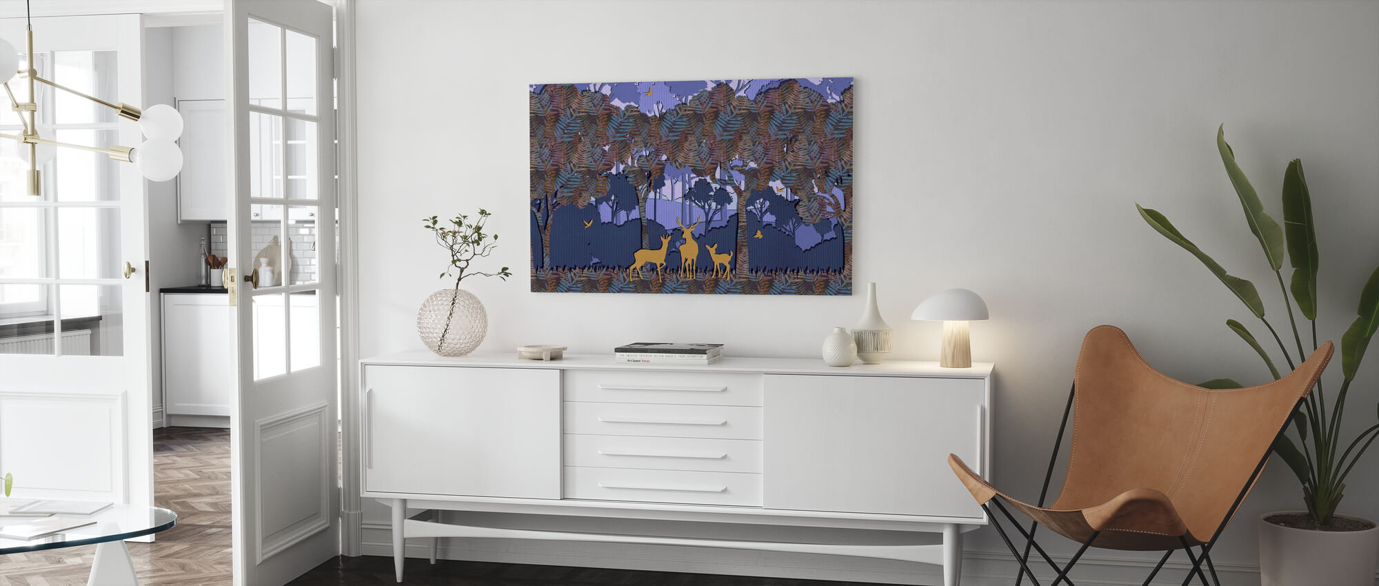 Papyromania Forest - Canvas print - Living Room