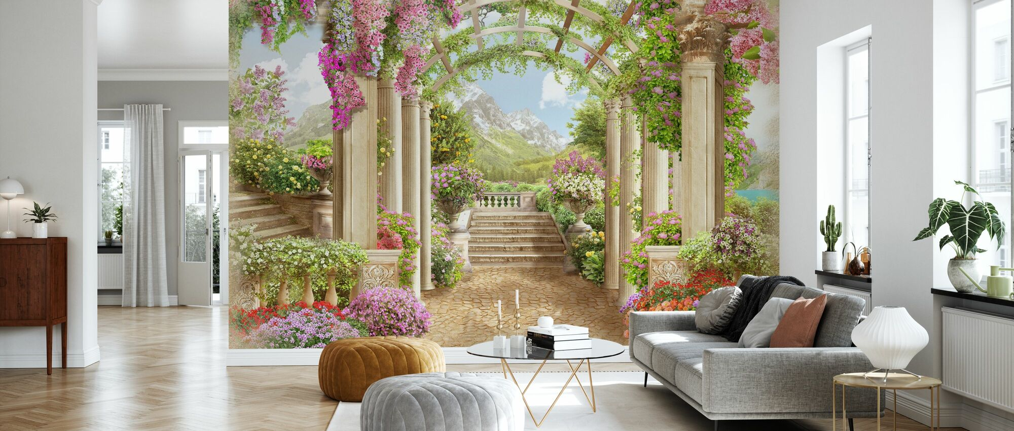Renaissance Path - Wallpaper - Living Room