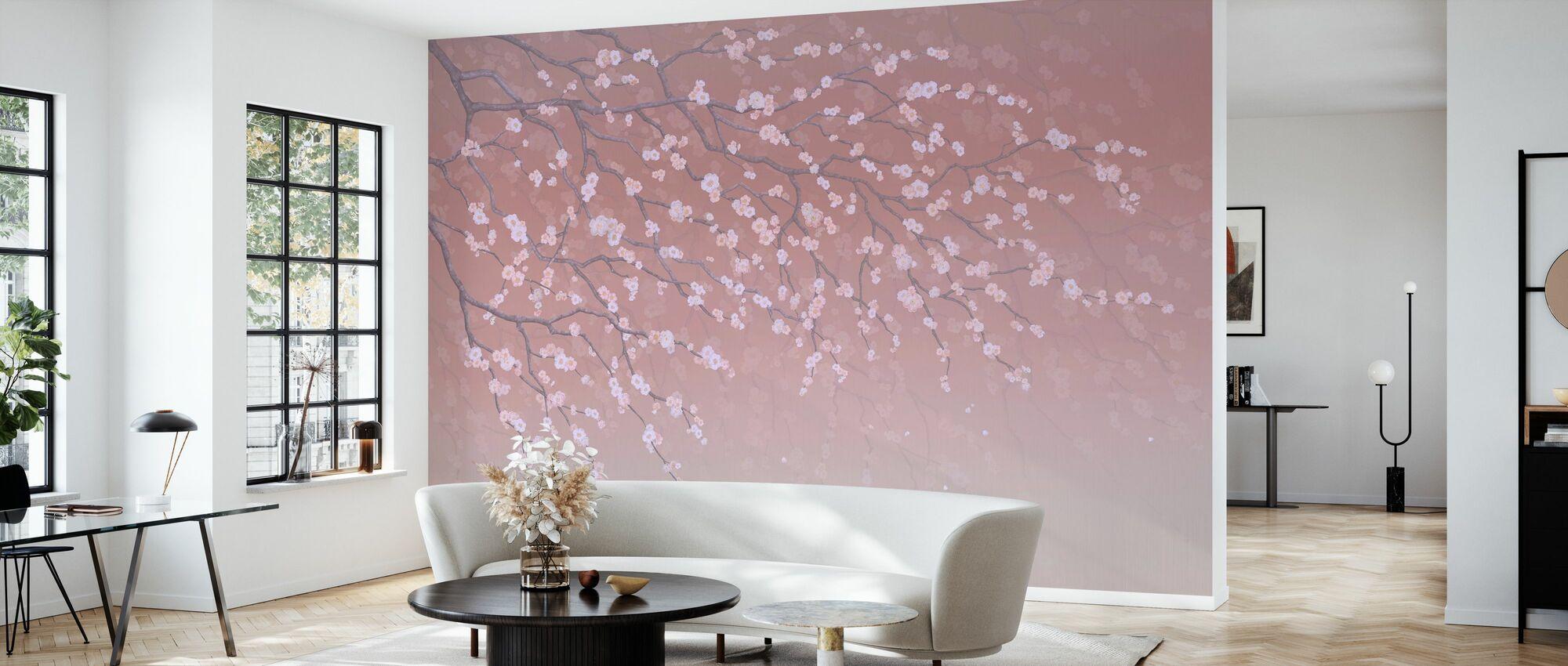 Sakura - Ruby - Wallpaper - Living Room