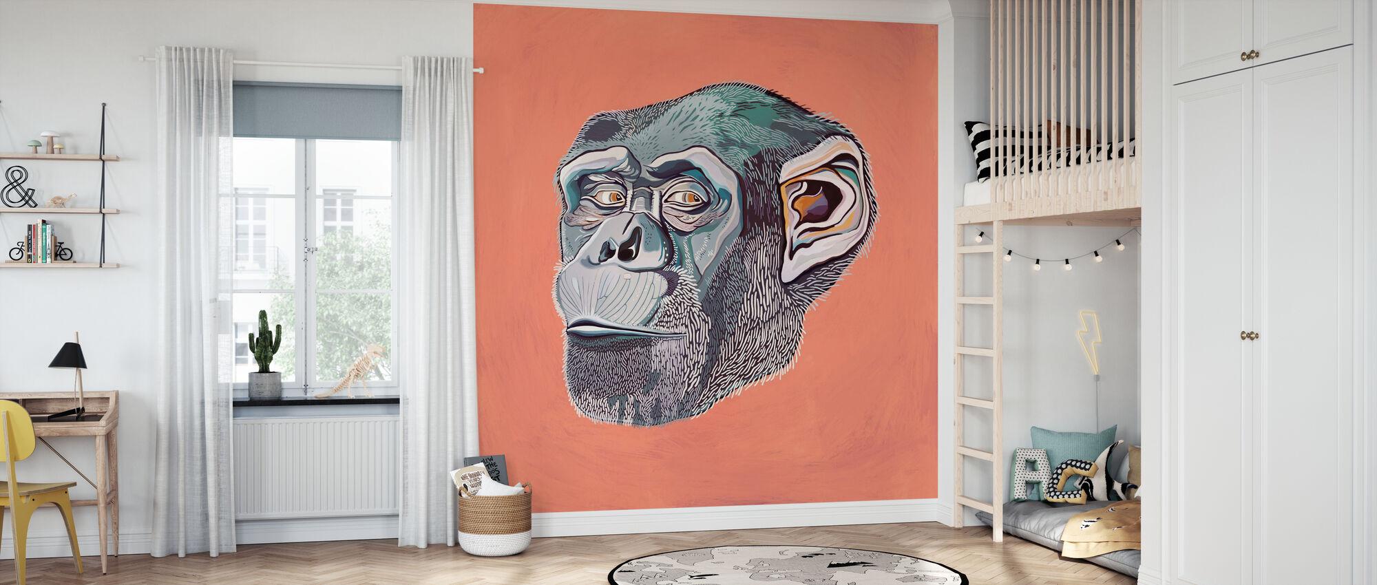 Apina - Tapetti - Lastenhuone