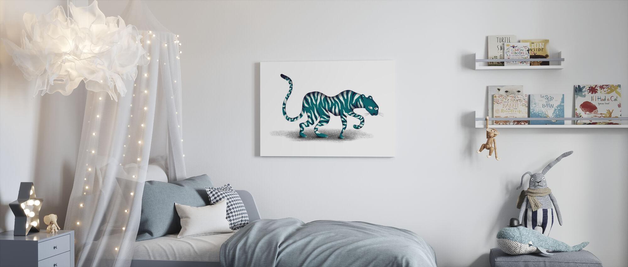 Blauwe Jungle Dier - Canvas print - Kinderkamer