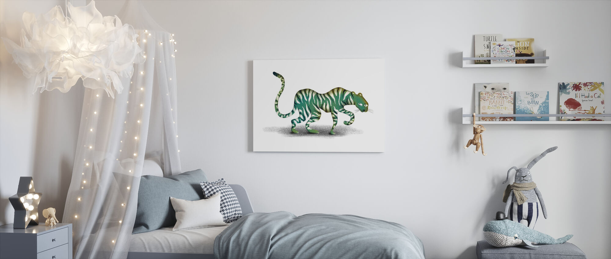 Mystic Jungle dier - Canvas print - Kinderkamer