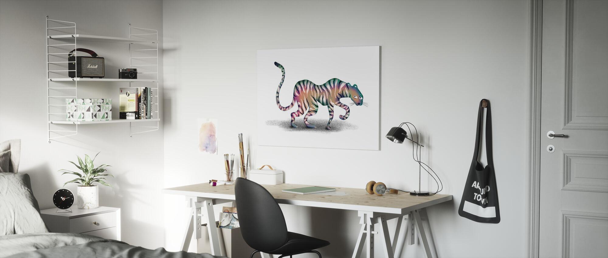 Super Mystic Jungle Dier - Canvas print - Kinderkamer