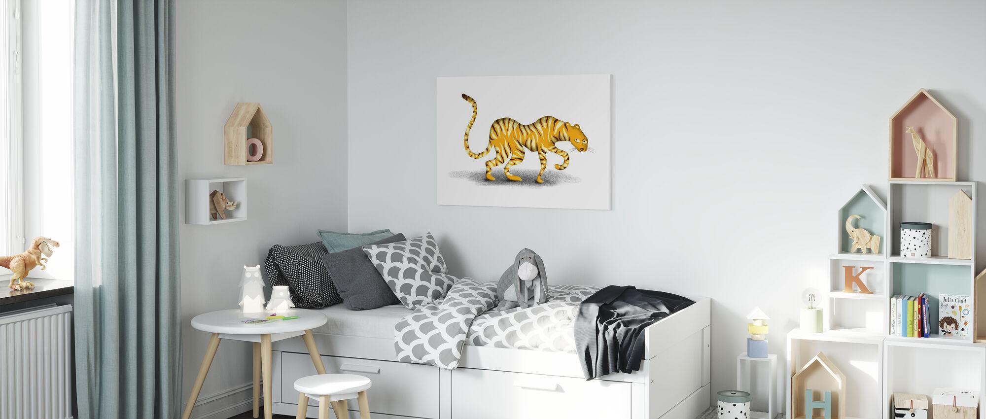 Gele Jungle Dier - Canvas print - Kinderkamer