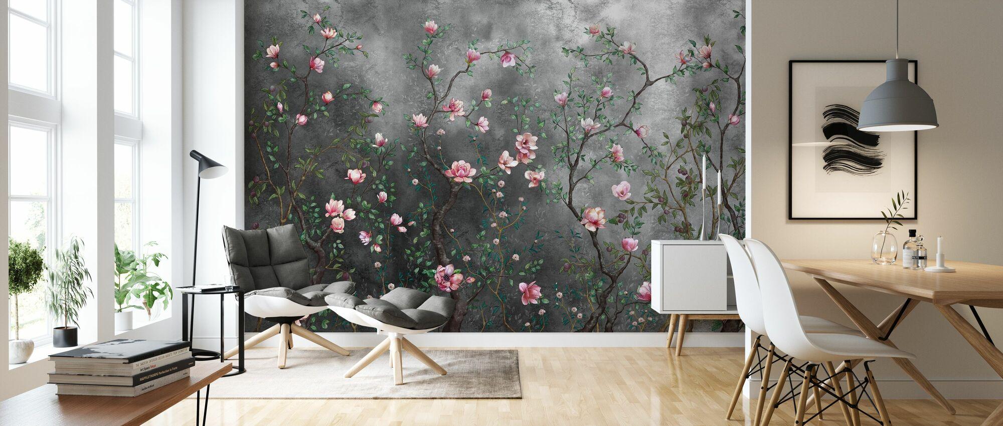 Groeiende Magnolia's - Behang - Woonkamer