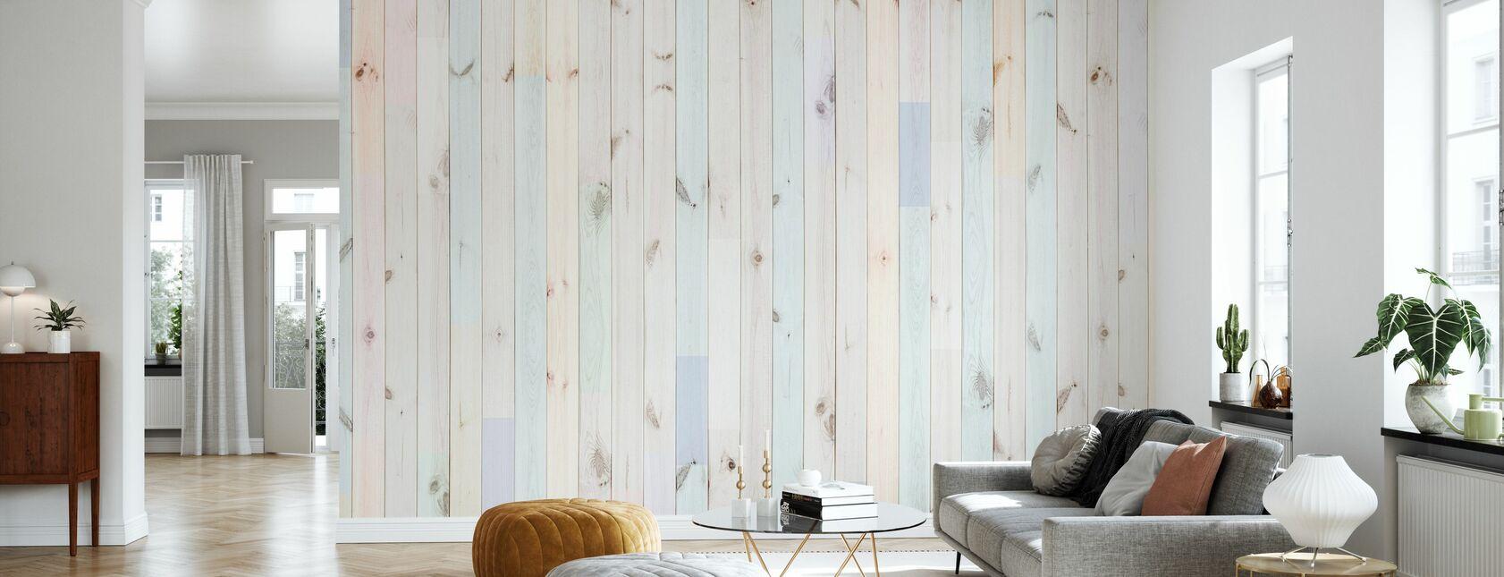 Multihued Plank - Wallpaper - Living Room