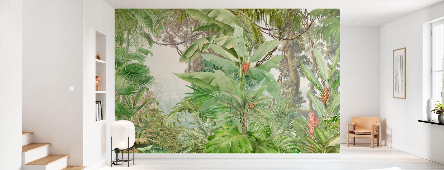 Tropical Profonde - Feuillue - Papier peint - Entrée