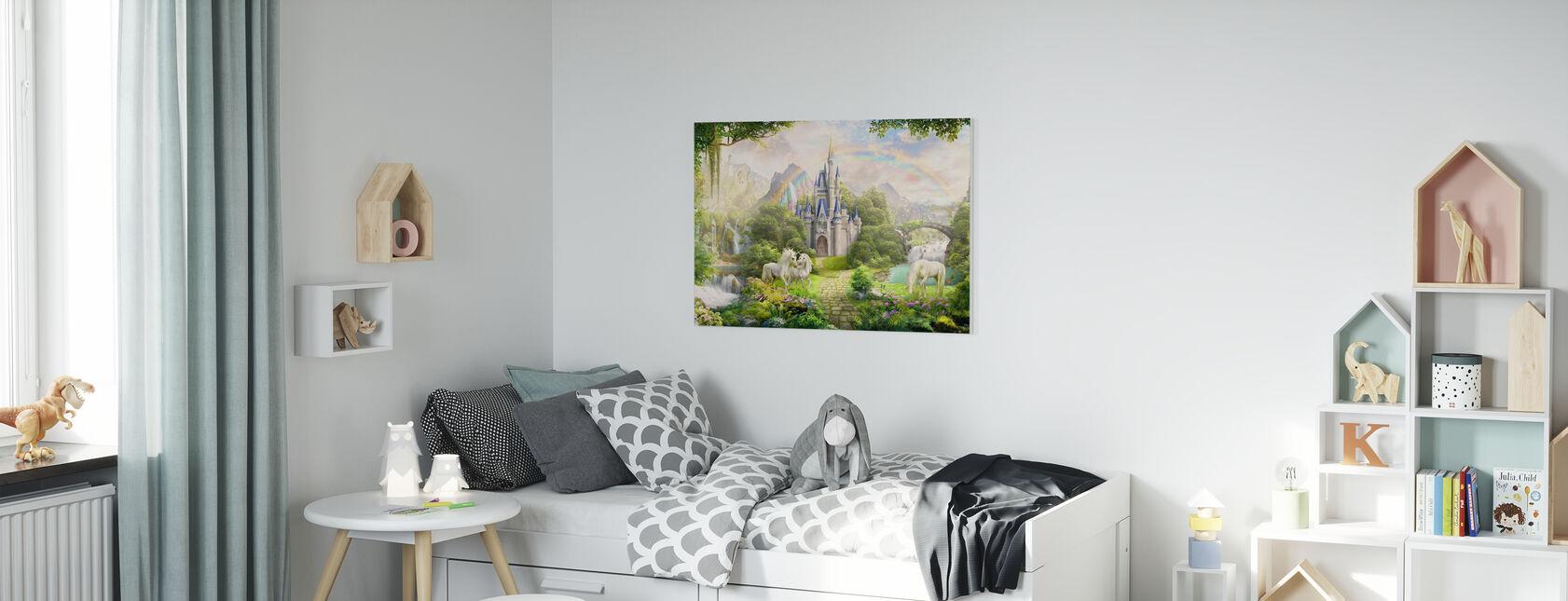 Unicorns Residence - Canvas print - Kids Room