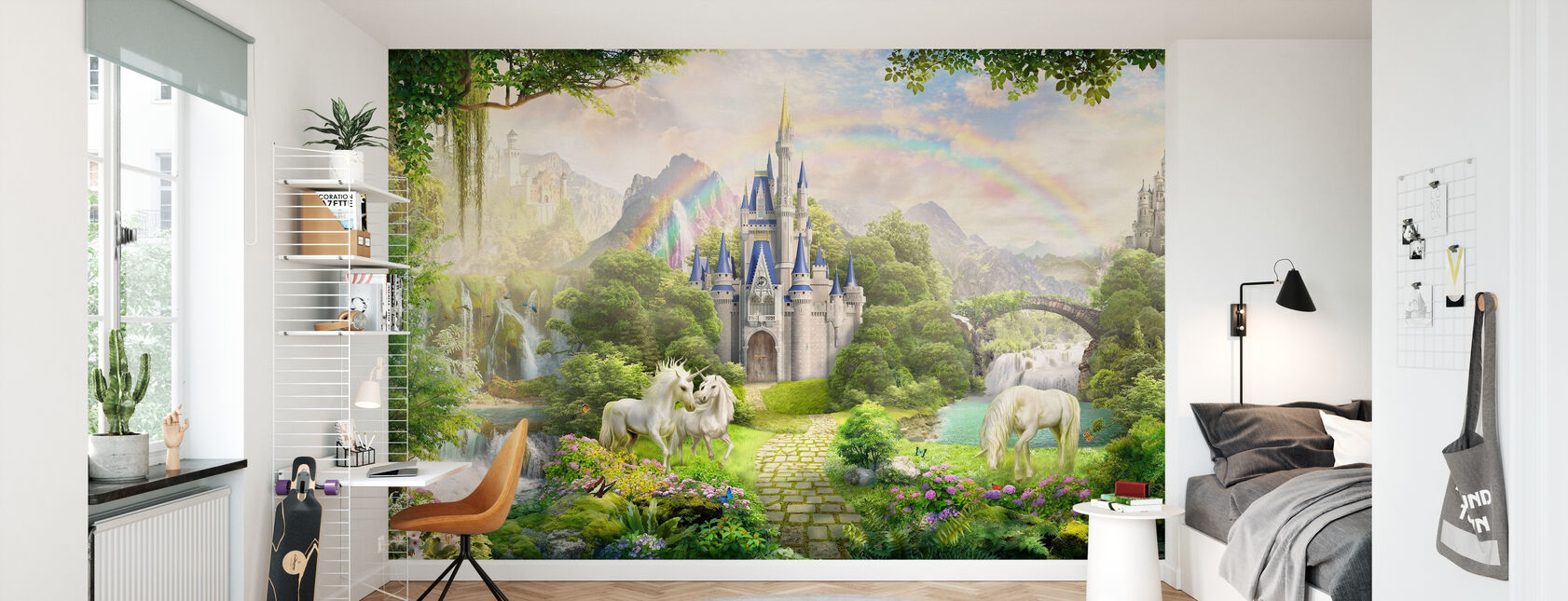 Unicorns Residence - Wallpaper - Kids Room