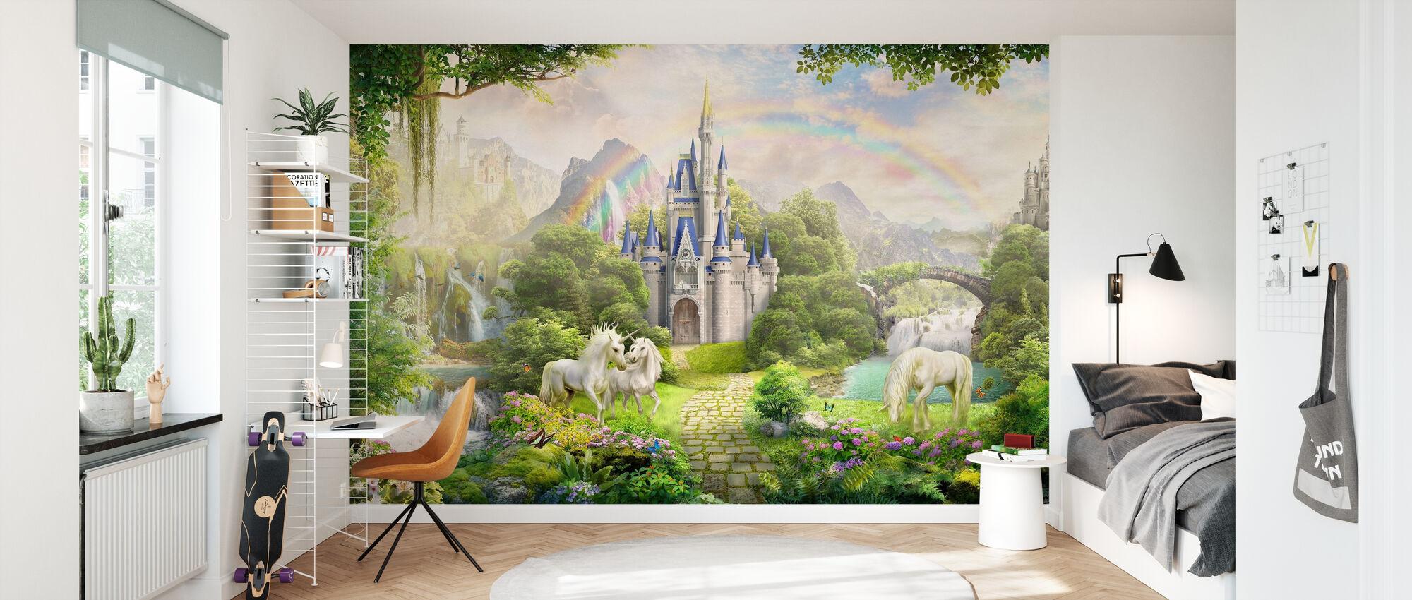 Unicorns Residence - Wallpaper - Kids Room