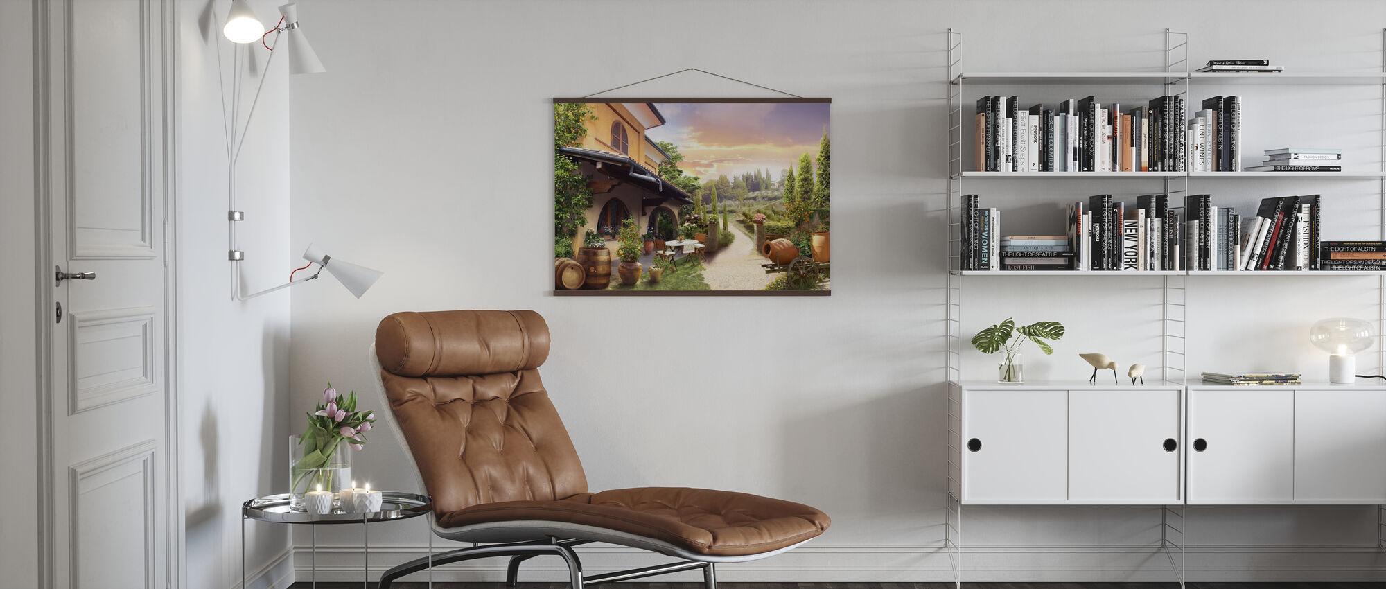Lovely Countryside House - Poster - Living Room