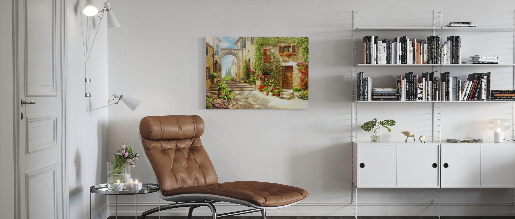 Beautiful Flower House - Canvas print - Living Room