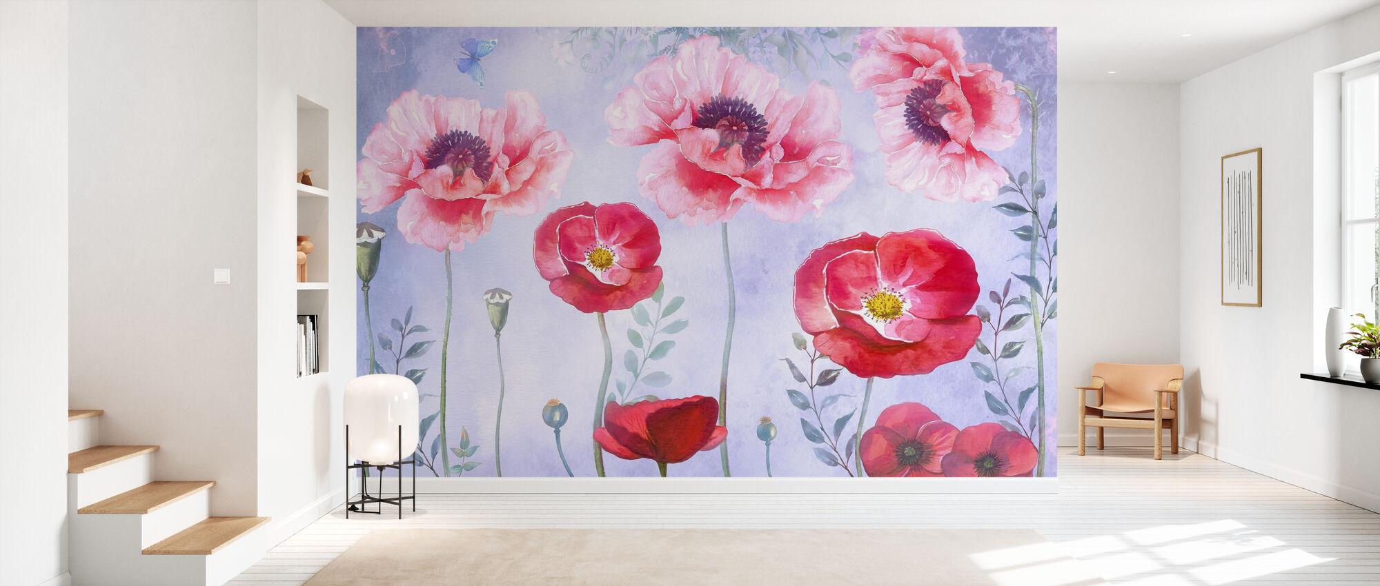 Pink Poppy - Wallpaper - Hallway