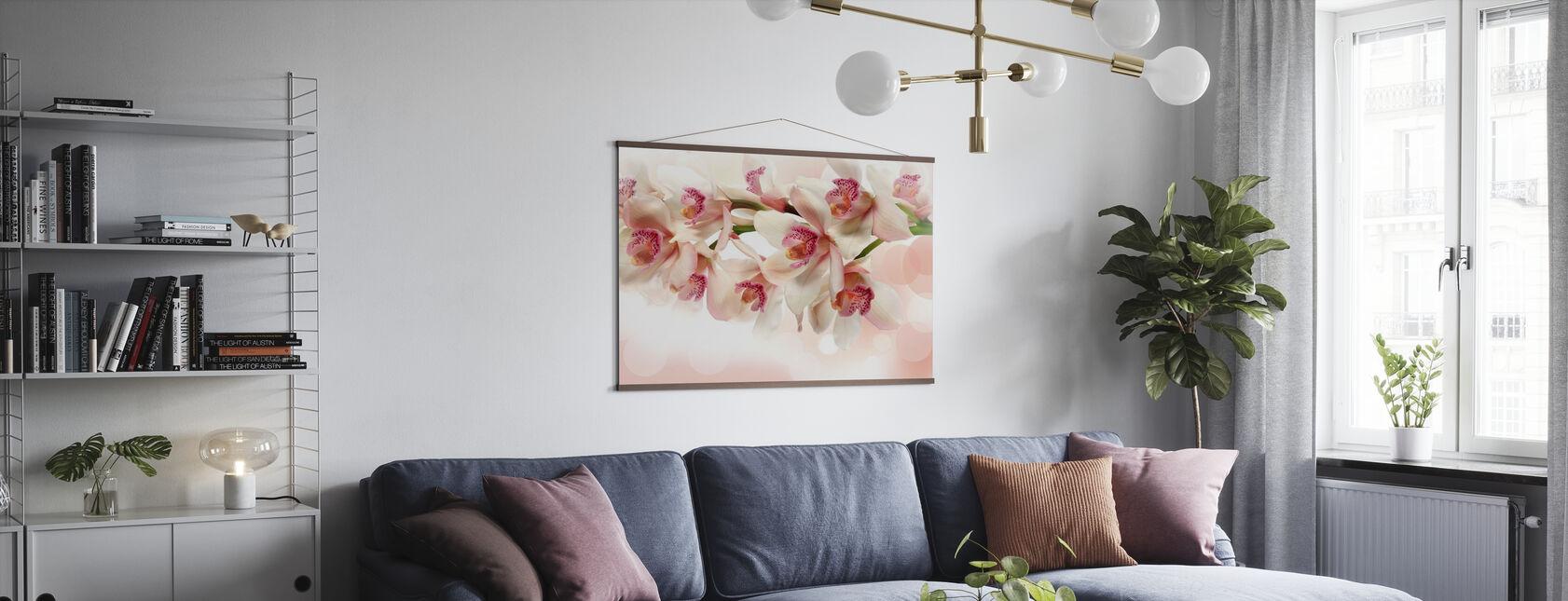 Lyserød orkidé - Plakat - Stue