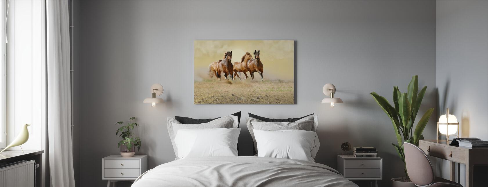 Wild Horses - Canvas print - Bedroom