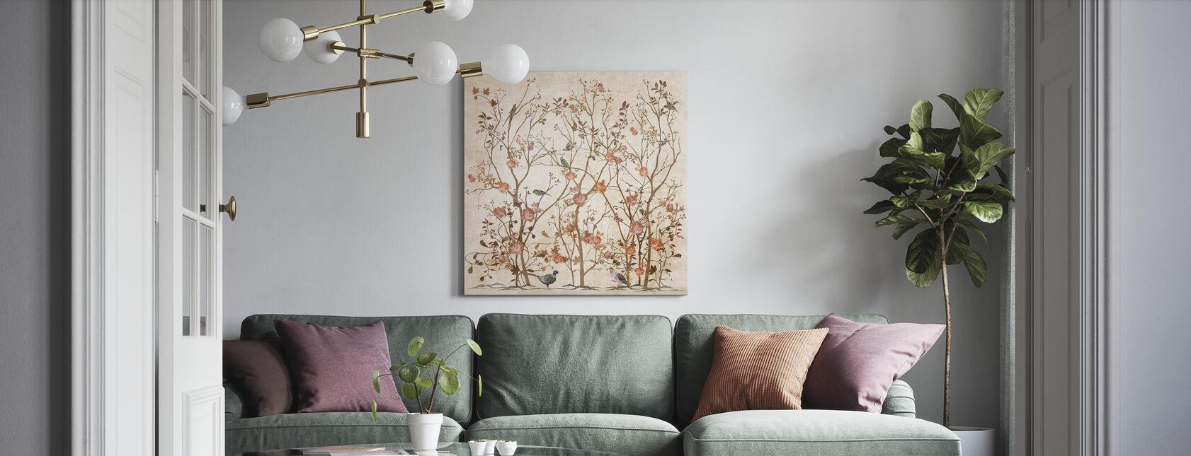 Roze Roos Bush - Canvas print - Woonkamer