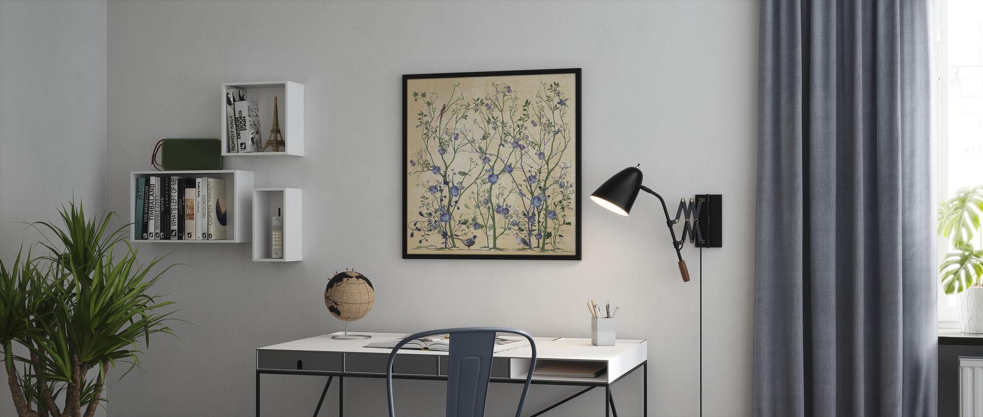 Blue Rose Bush - Poster - Office