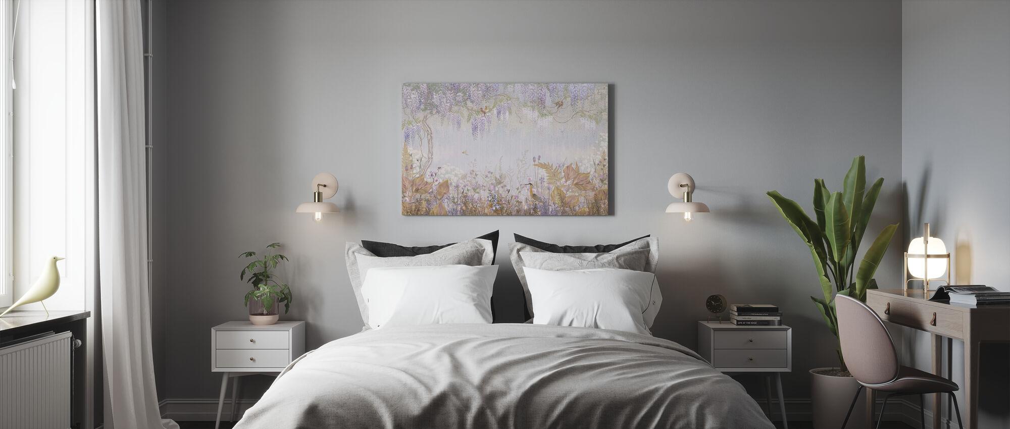 Purppura sumuinen metsä - Canvastaulu - Makuuhuone