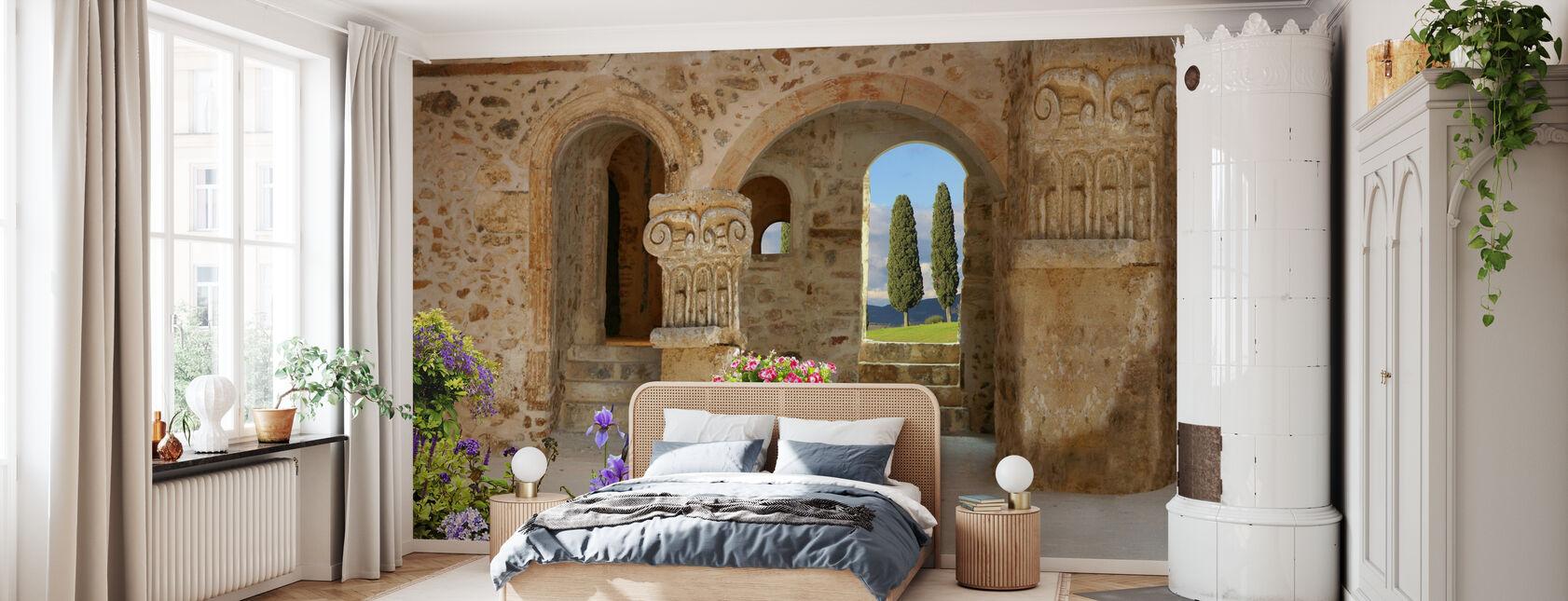 Old Stone Port - Wallpaper - Bedroom