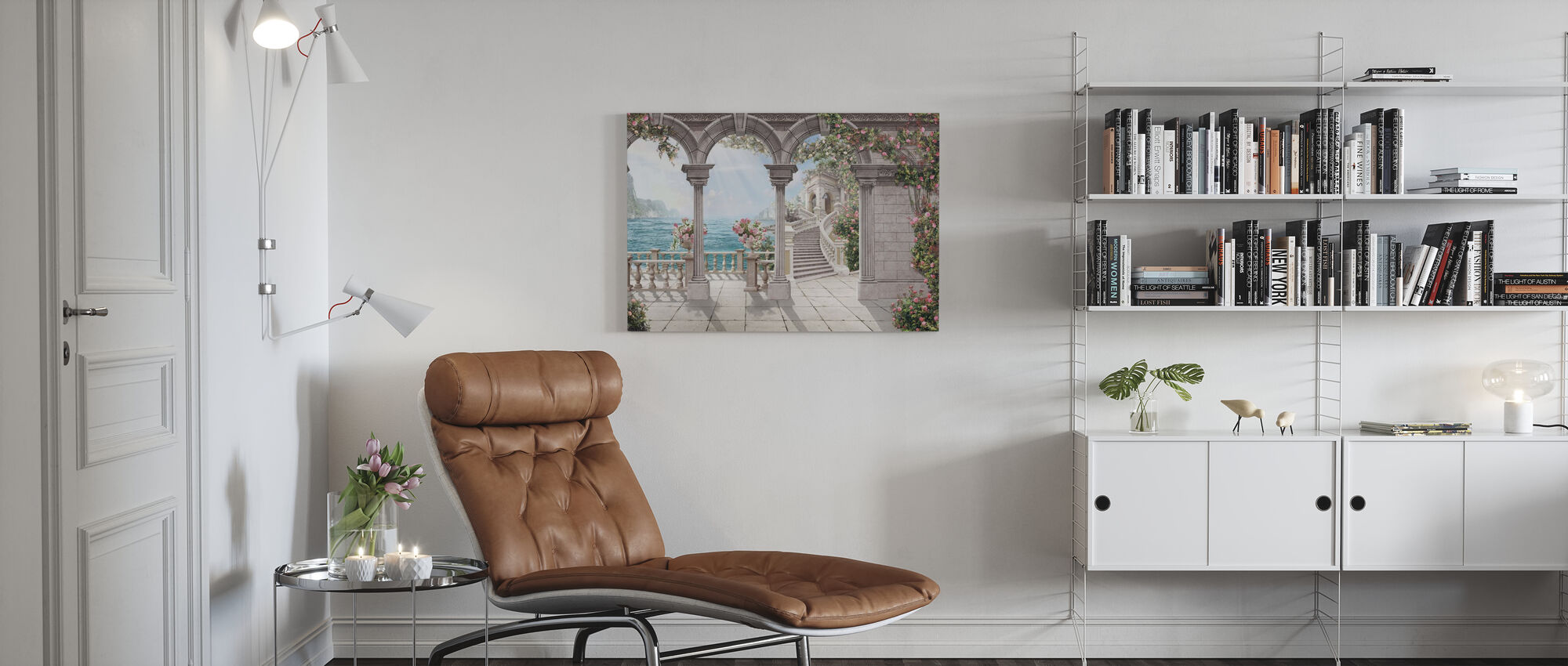 Antique Patio - Canvas print - Living Room