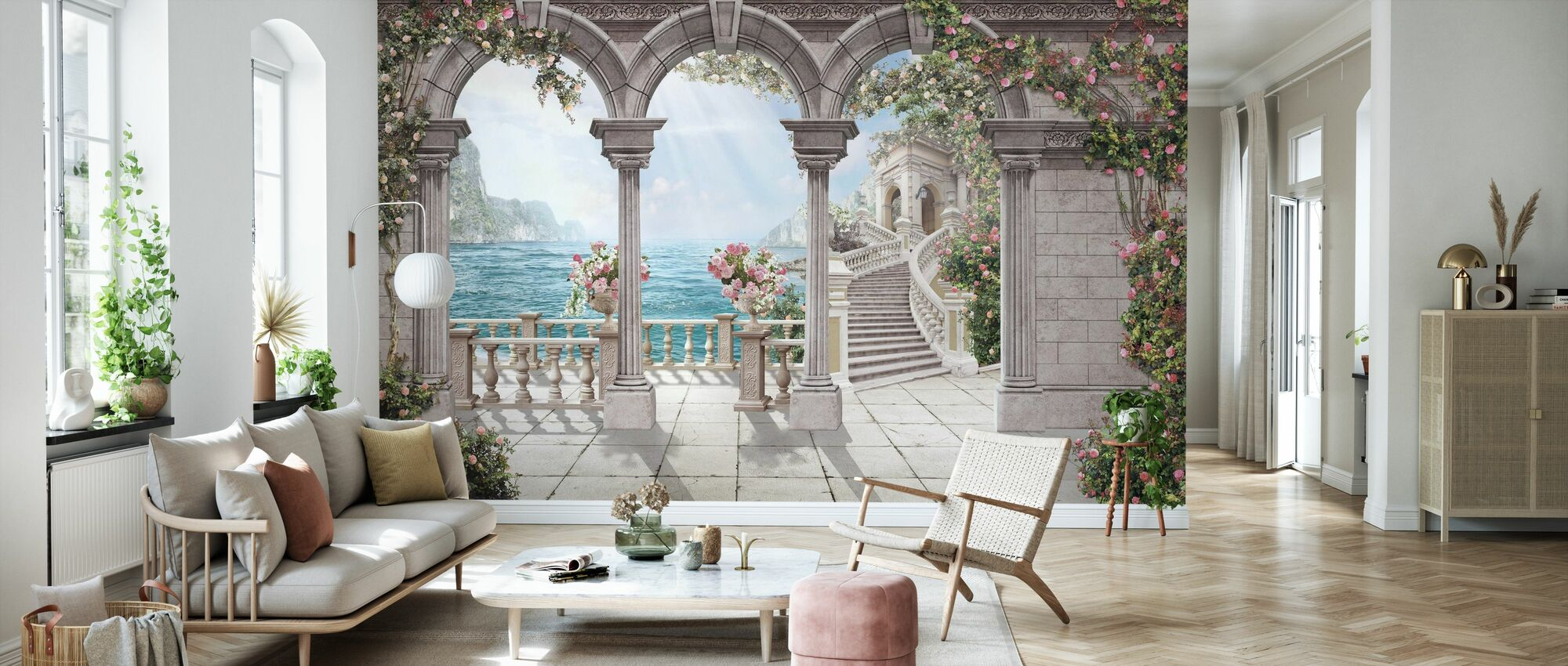 Antique Patio - Wallpaper - Living Room