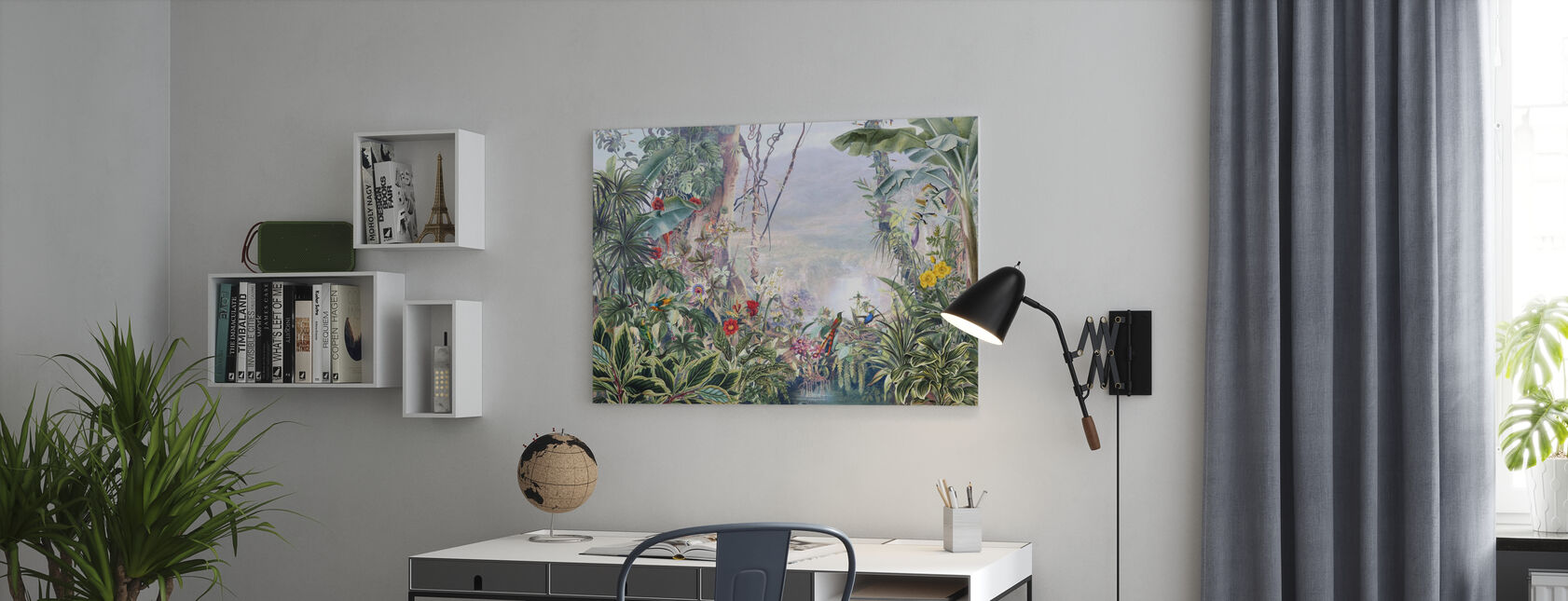 Misty Tropical Jungle - Canvas print - Office