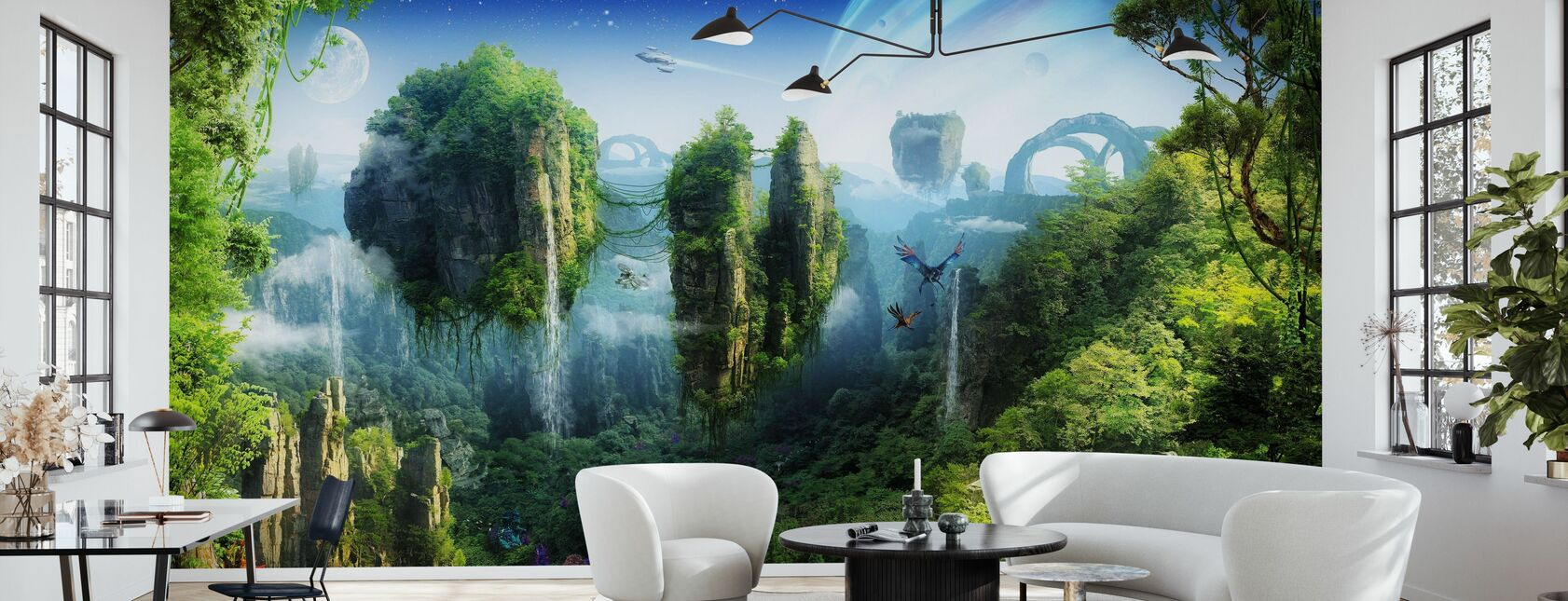 Magisk tropisk skog - Tapet - Vardagsrum