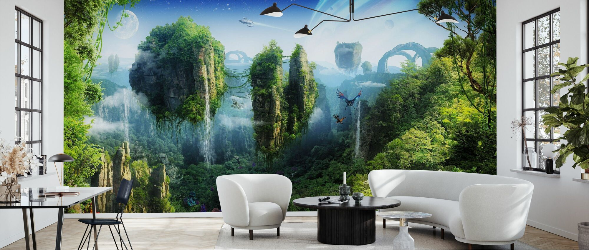 Magic Tropical Forest - Wallpaper - Living Room