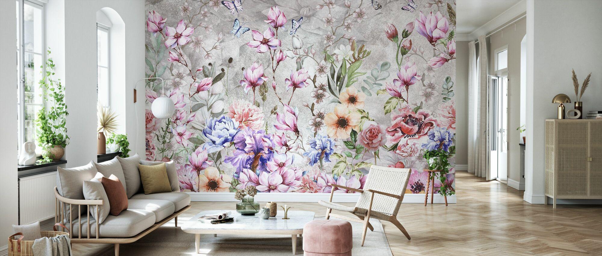 Sommer Blomster - Tapet - Stue