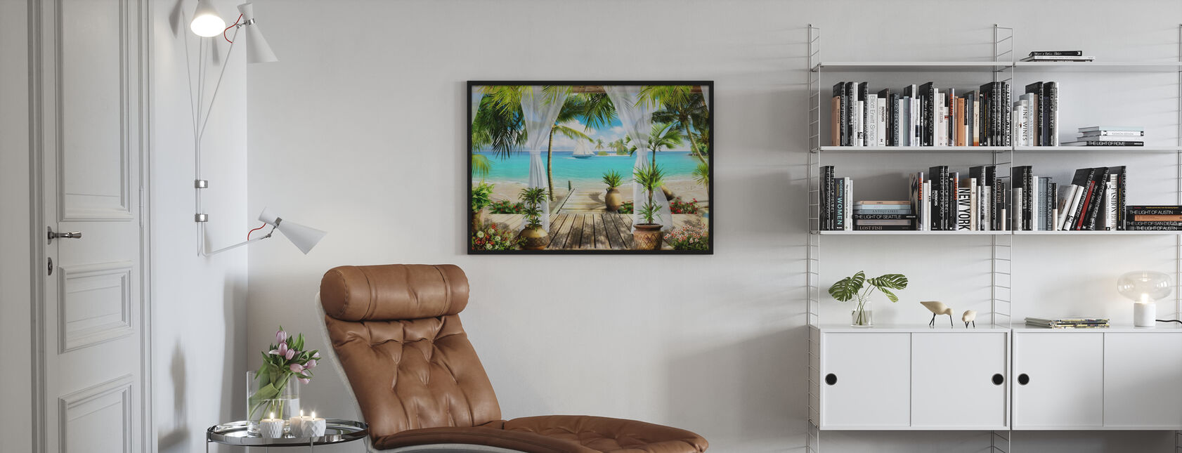 Bungalow on the Beach - Poster - Living Room