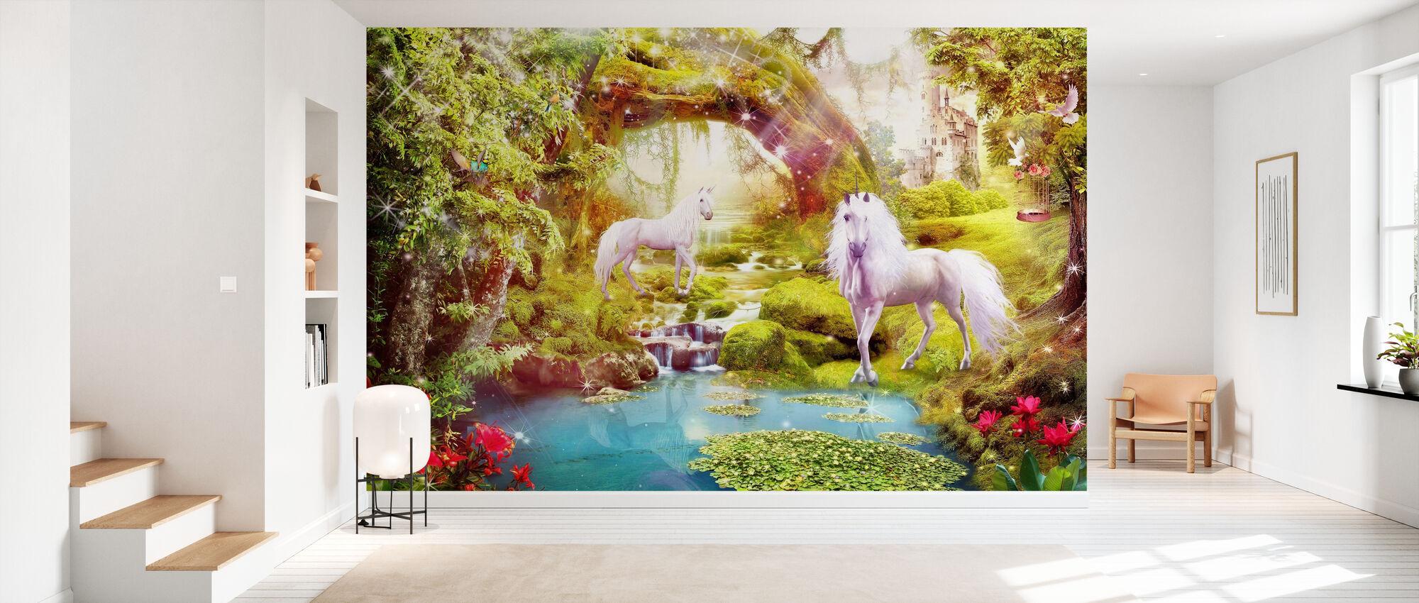 Licornes dans le paysage rêveur - Papier peint - Entrée