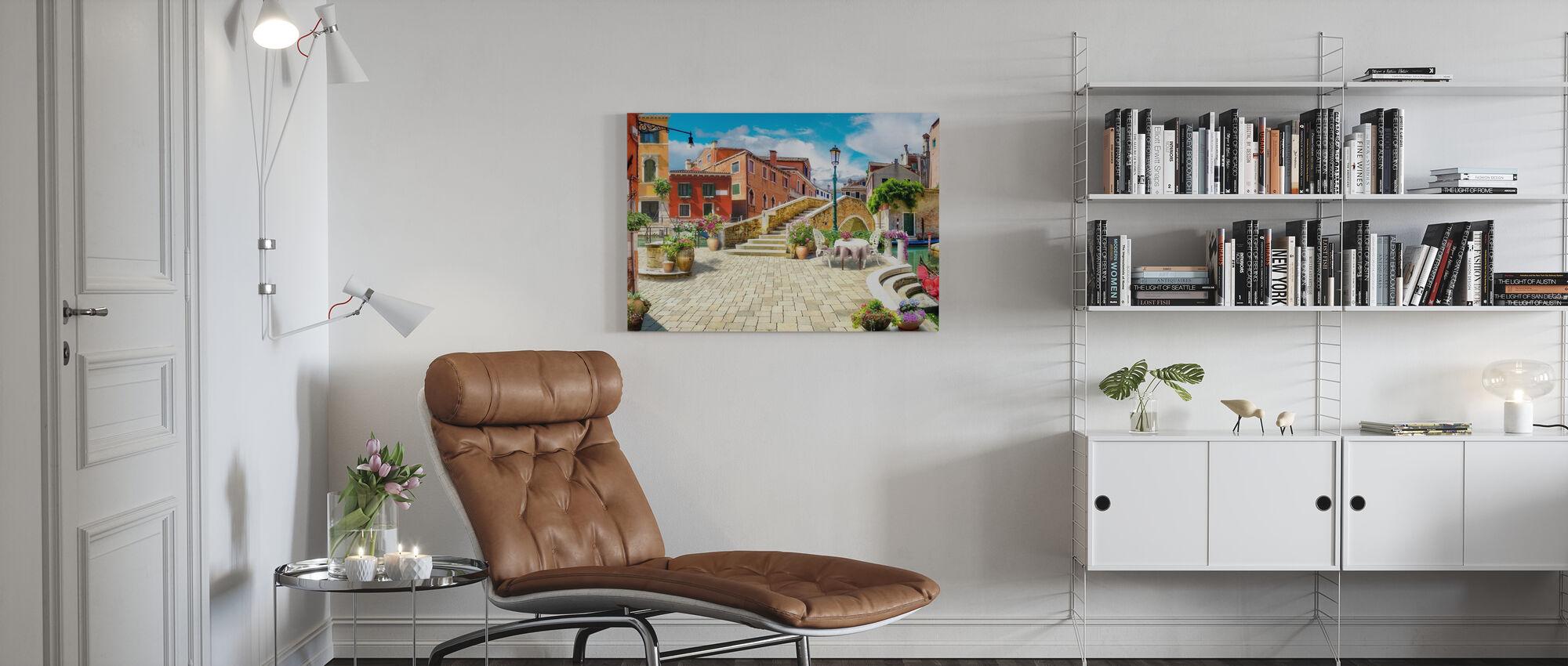 Venice Bridge II - Canvas print - Living Room