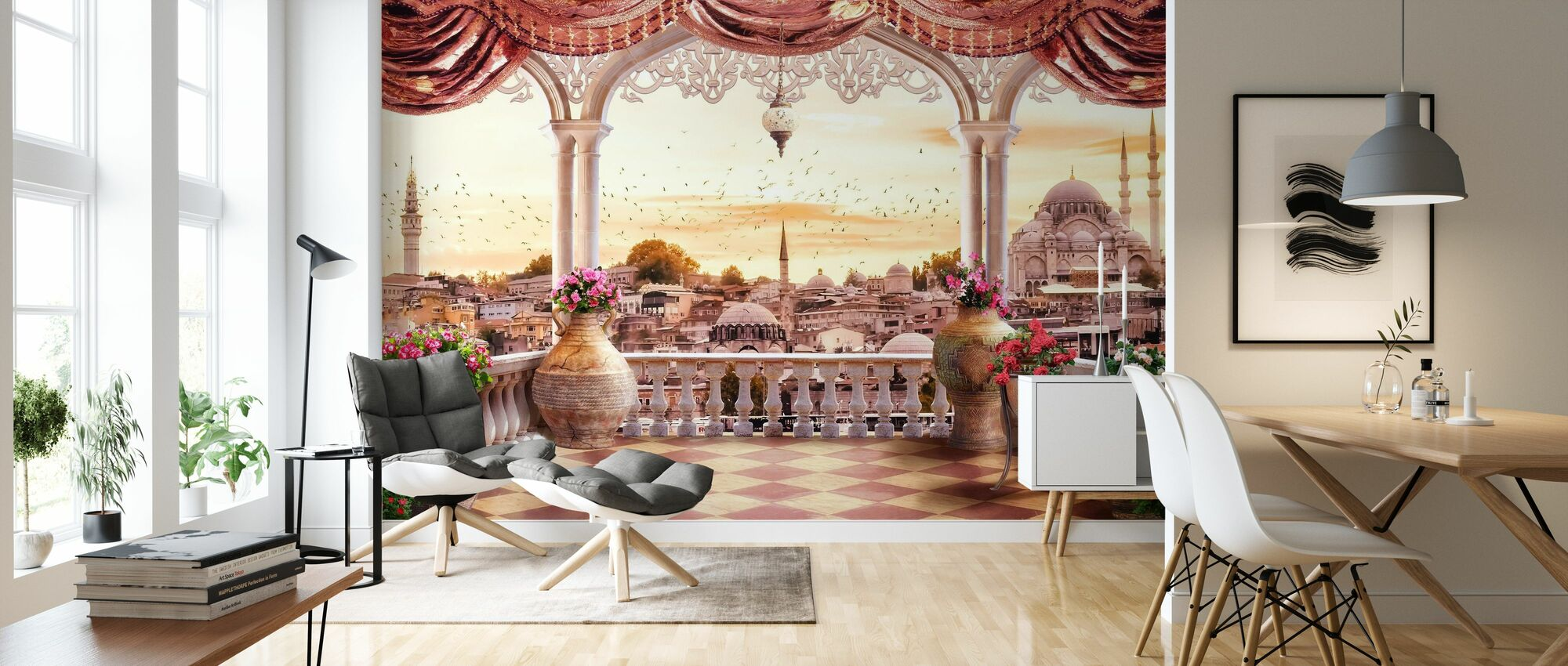 Istanbul Mosque - Wallpaper - Living Room