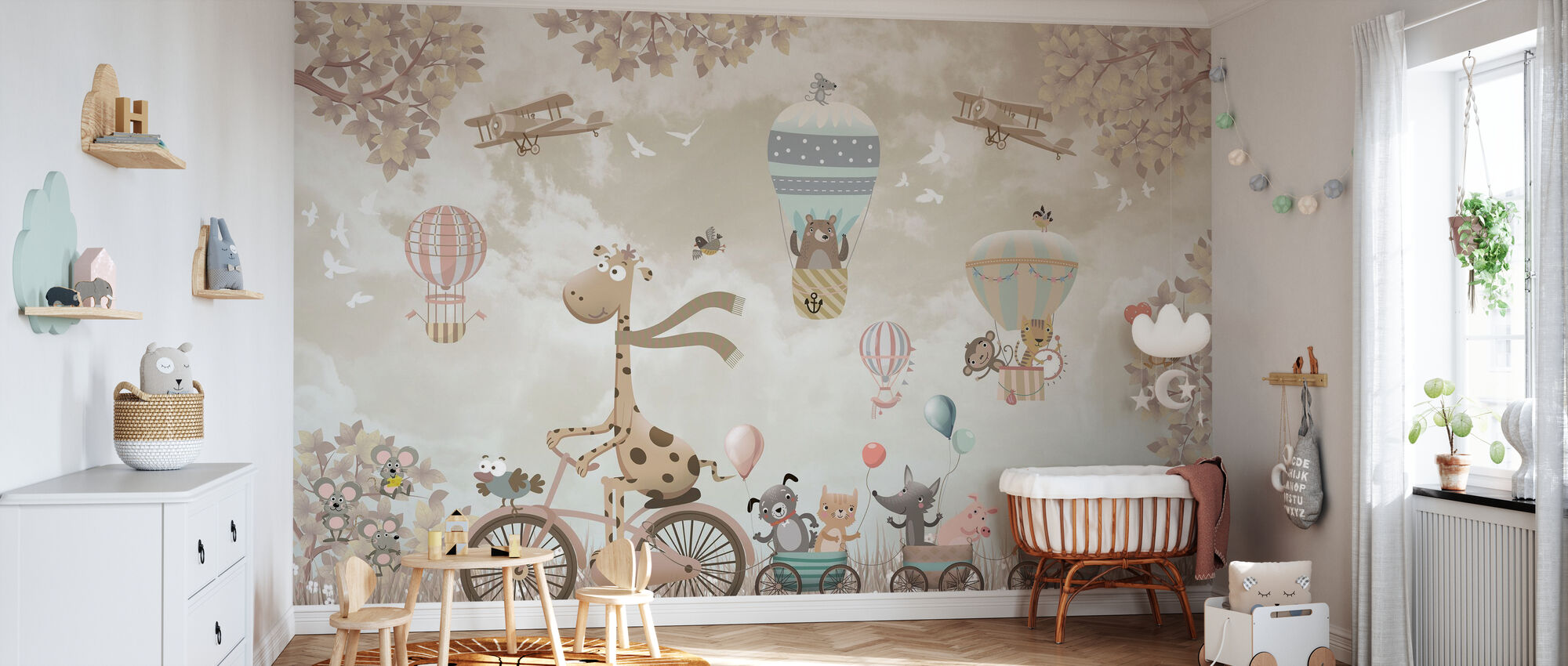 Adventure on Bicycle - Wallpaper - Nursery