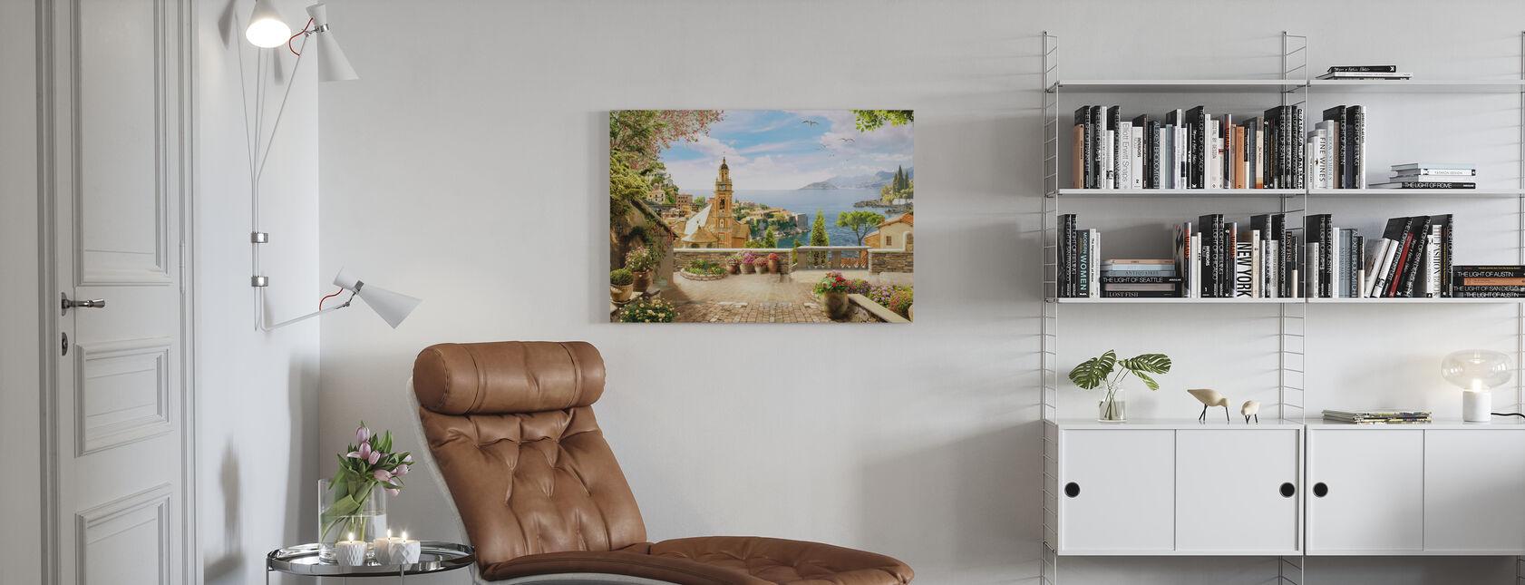 Atemberaubender Blick auf Amalfi - Leinwandbild - Wohnzimmer