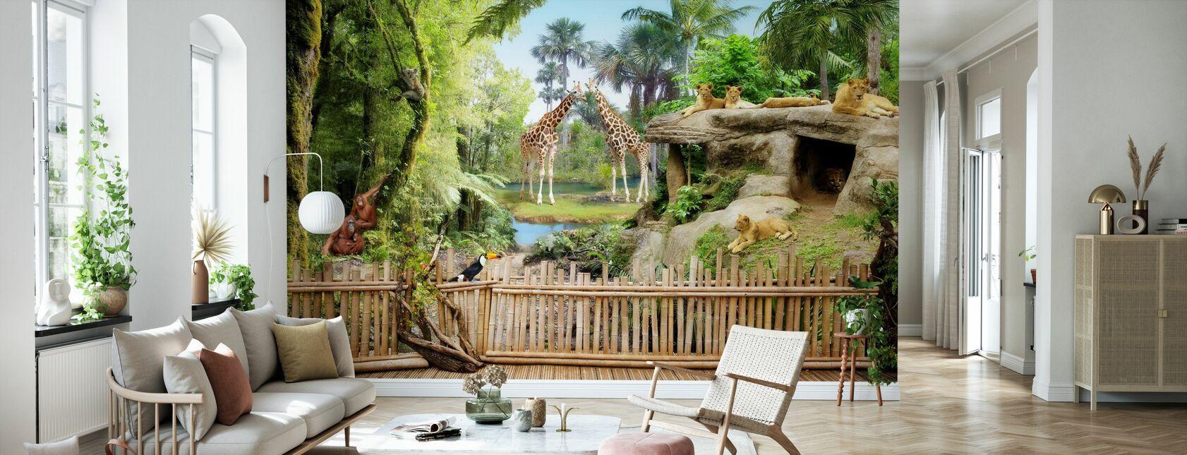 Zoo Animals - Wallpaper - Living Room