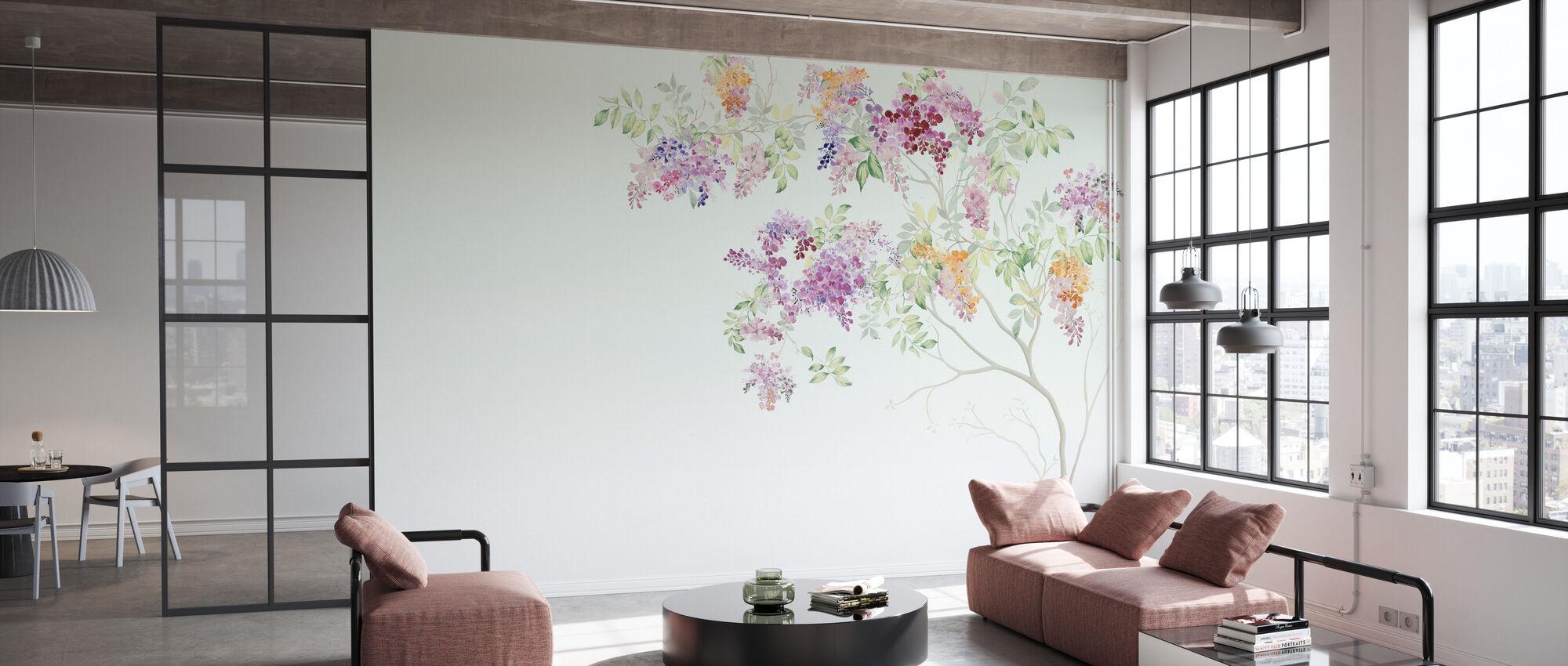 Lovely Flower Branch - Wallpaper - Office