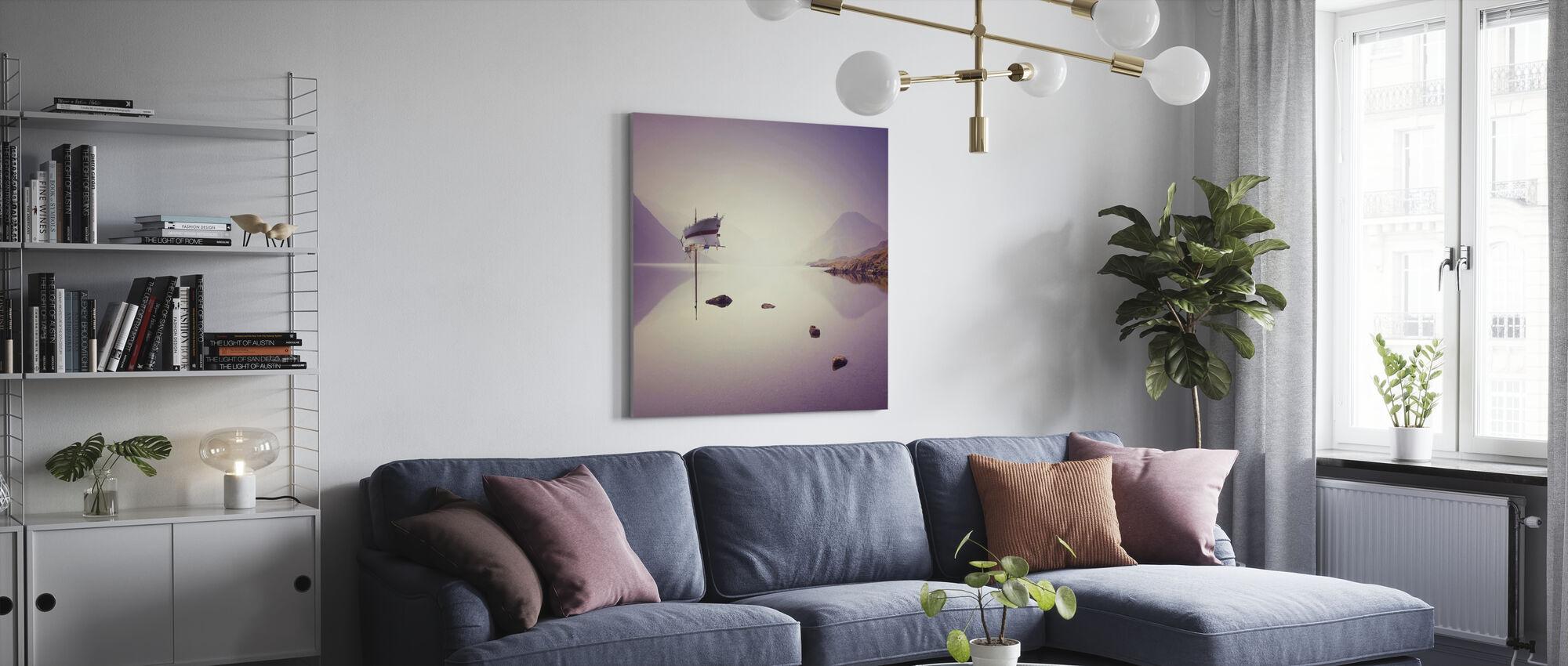 Bruten utjämning - Canvastavla - Vardagsrum