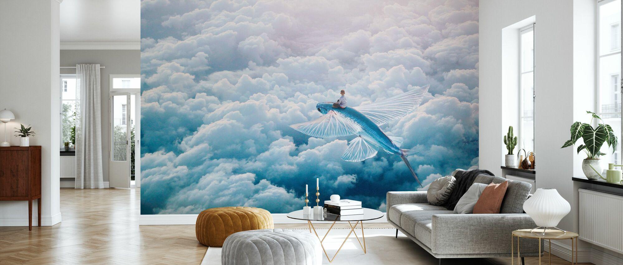 Plane - Wallpaper - Living Room