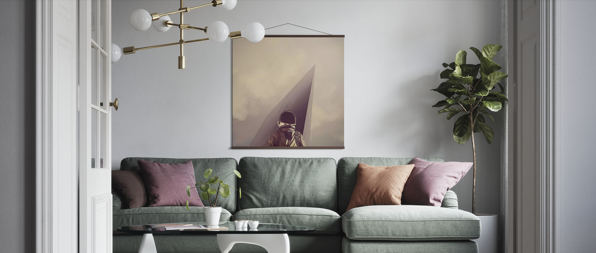 Punkt Omega - Poster - Wohnzimmer