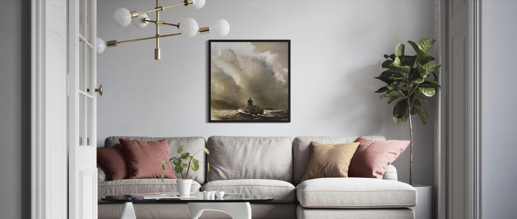 Langsames Atmen - Poster - Wohnzimmer