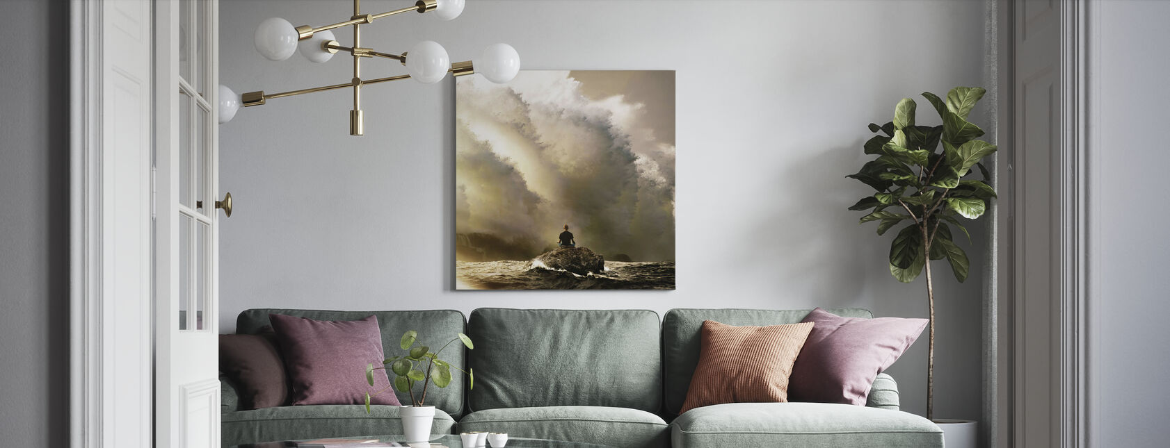 Slow Breathing - Canvas print - Living Room