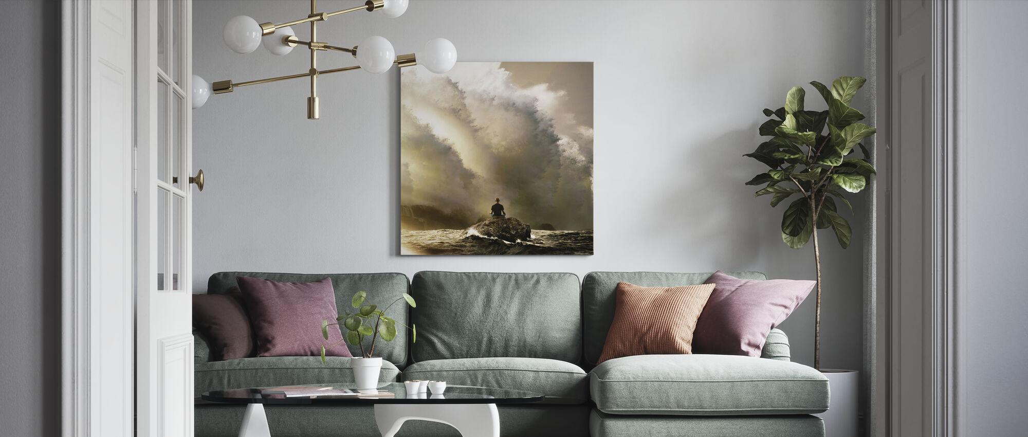 Långsam andning - Canvastavla - Vardagsrum