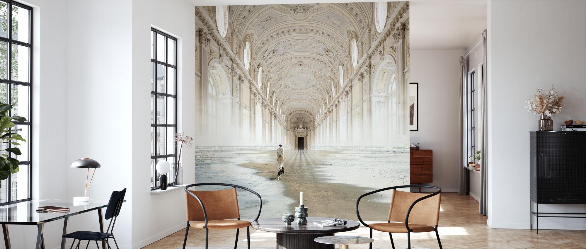 Line - Wallpaper - Living Room
