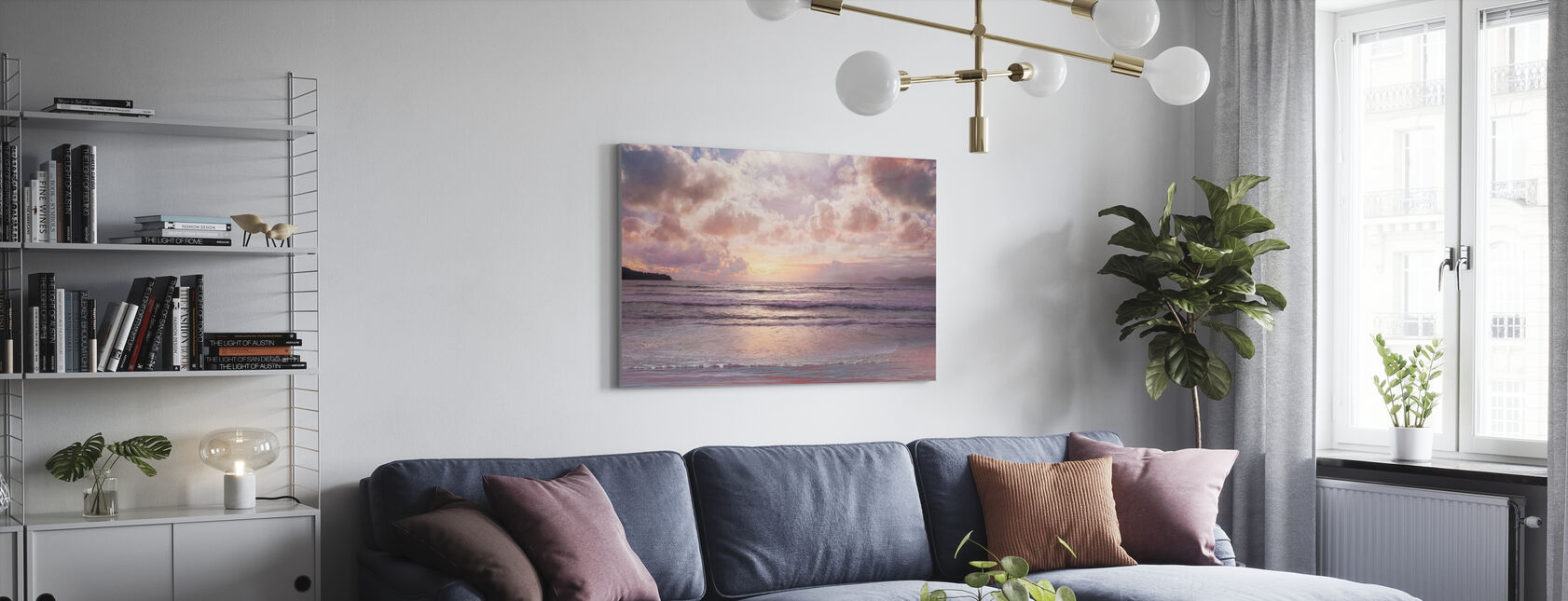 Pink Horizon - Canvas print - Living Room